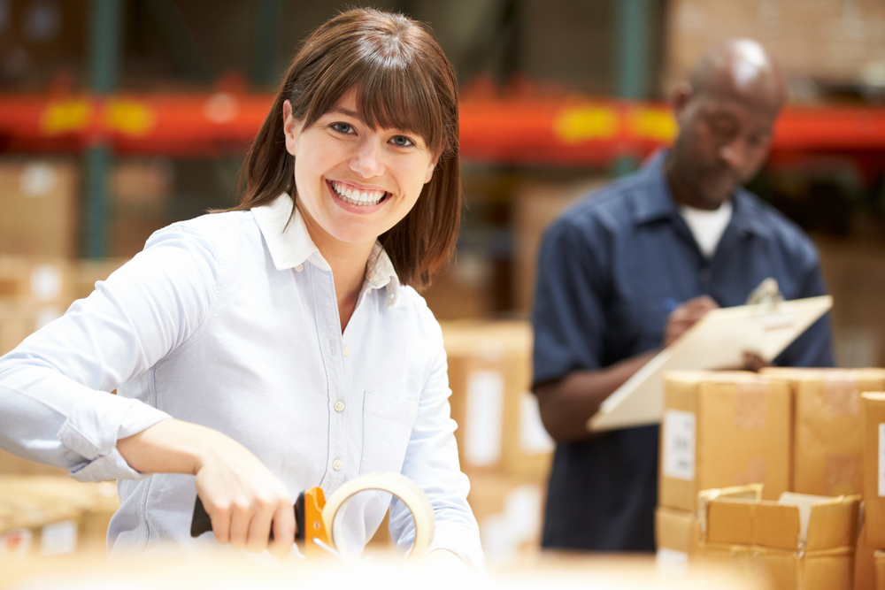 Clothing warehouse worker