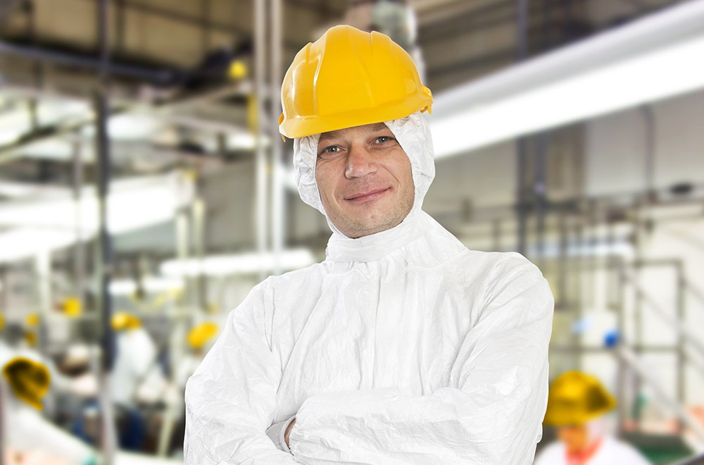 Onion factory worker