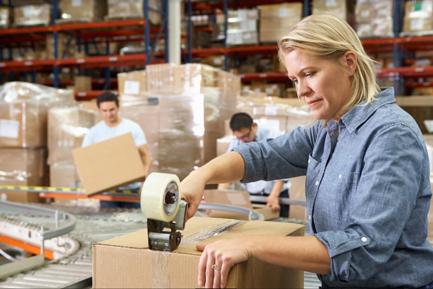 Packaging worker