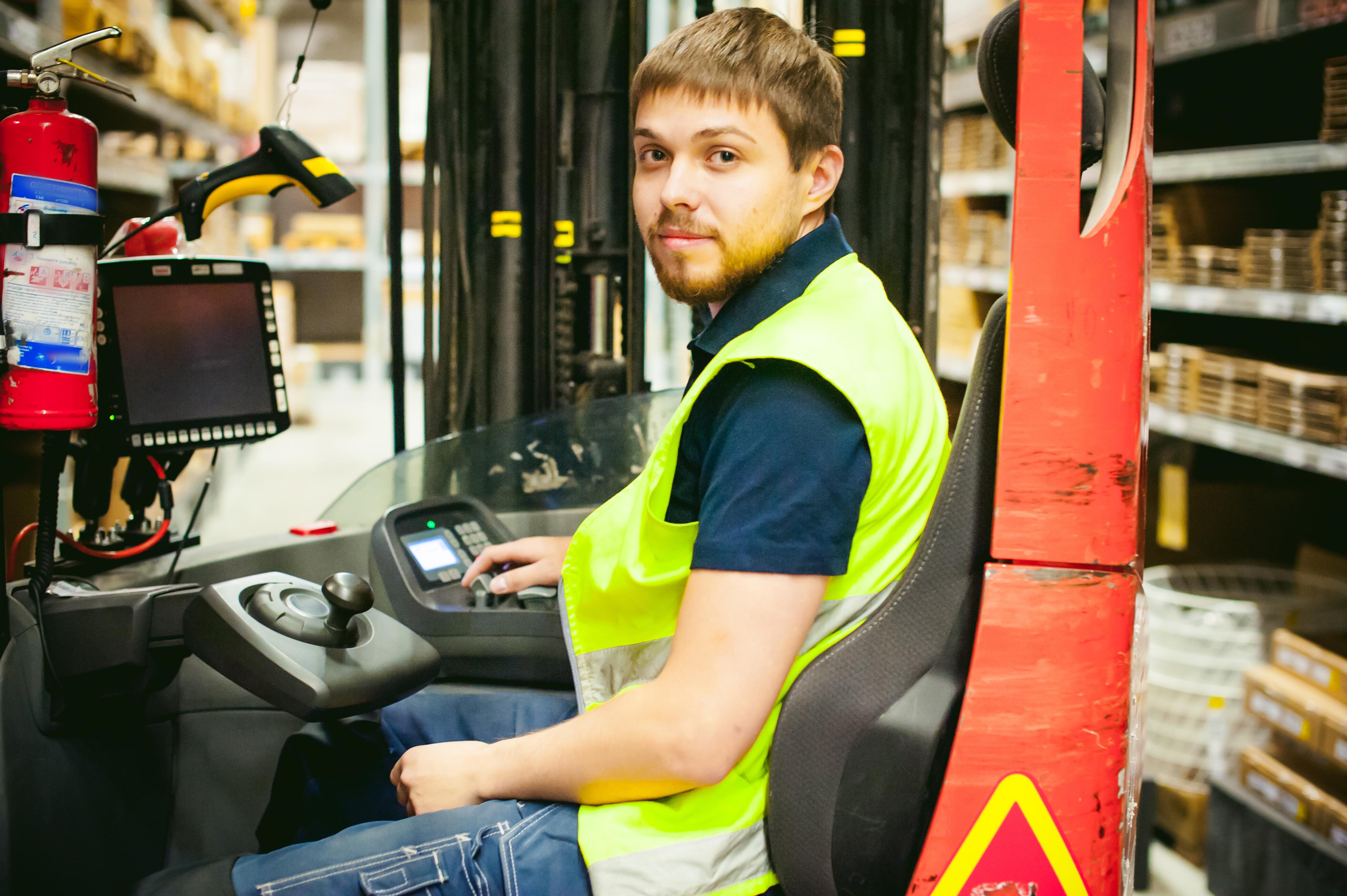 Reach truck driver