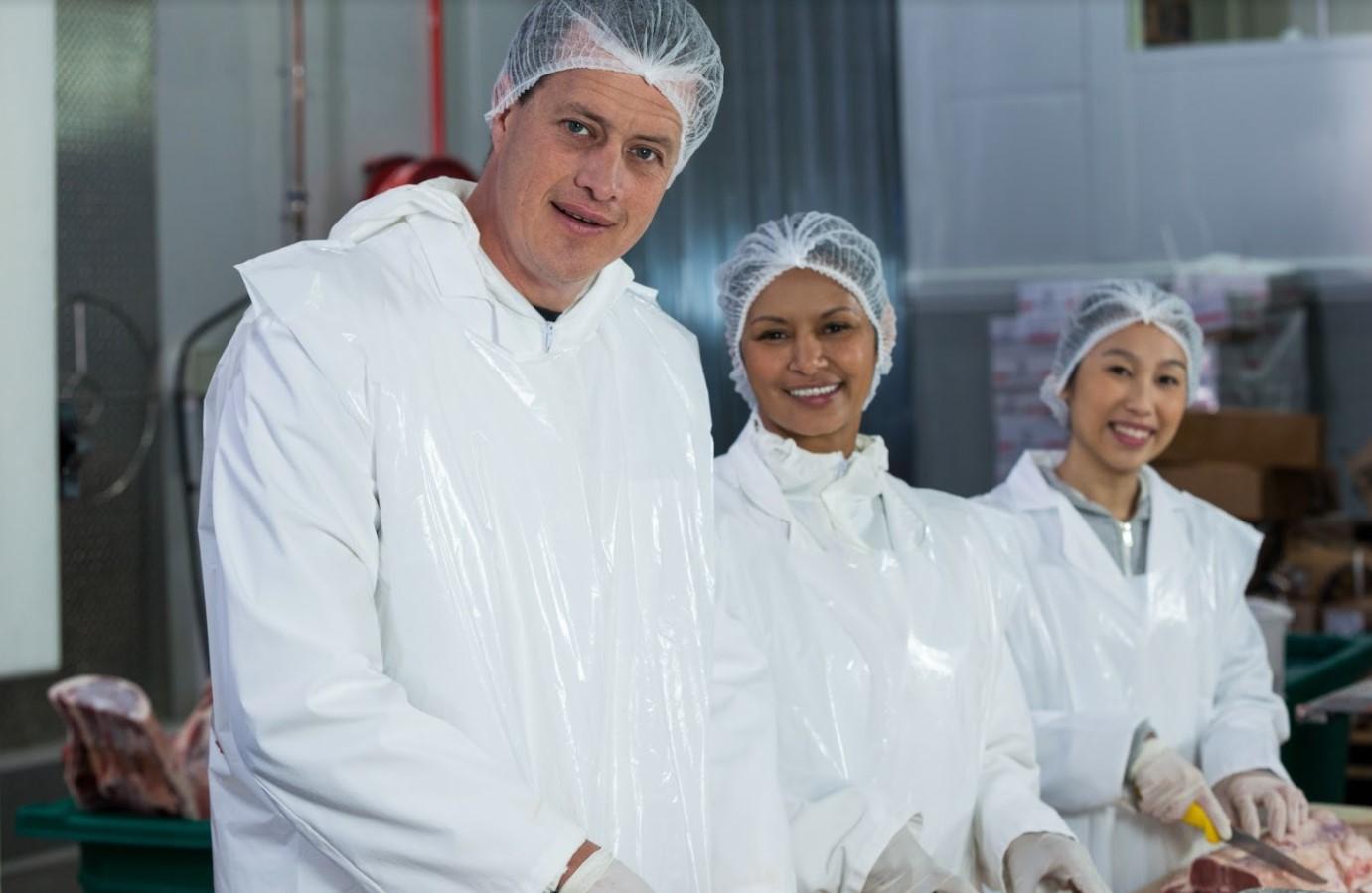 Meat factory worker